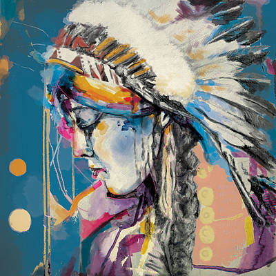 First Nation Painting - First Nations 7b by Corporate Art Task Force