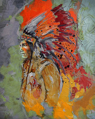 First Nation Painting - First Nations 9 B by Corporate Art Task Force