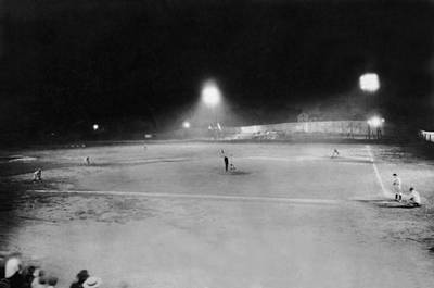 First Night Baseballl Game Art Print by Underwood Archives