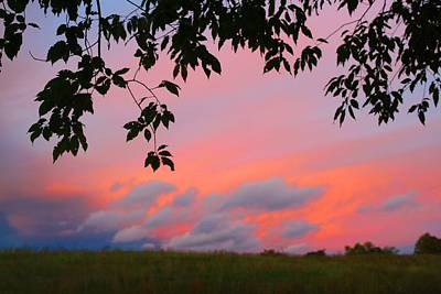 Art Print featuring the photograph First October Sunset by Kathryn Meyer
