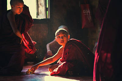 Myanmar Photograph - First Of All They Are Kids by Julia Wimmerlin