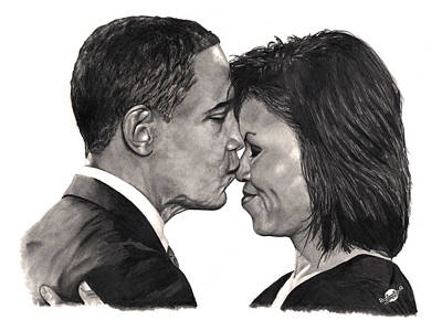 Michelle Obama Drawing - First Order Of Business by Brian Wylie