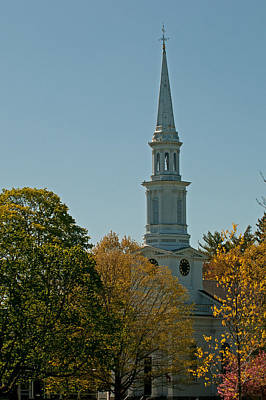 Photograph - First Parish - Lexington by Paul Mangold