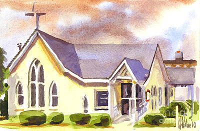 Mist Painting - First Presbyterian Church Ironton Missouri by Kip DeVore