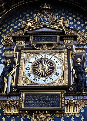 Art In Public Places Photograph - First Public Clock In Paris by John Rizzuto
