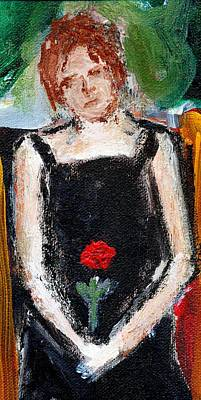 Painting - First Rose by Michael Dohnalek