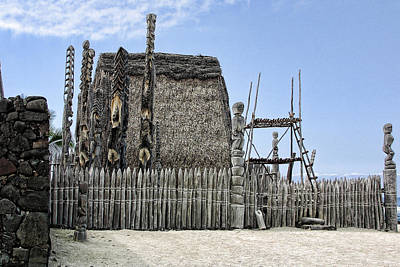 First Settlement On Kona Island Art Print by Linda Phelps