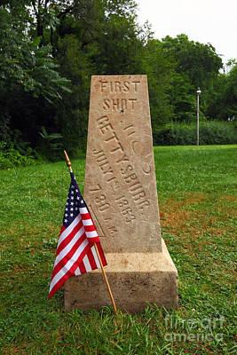 First Shot Monument Gettysburg Art Print by James Brunker
