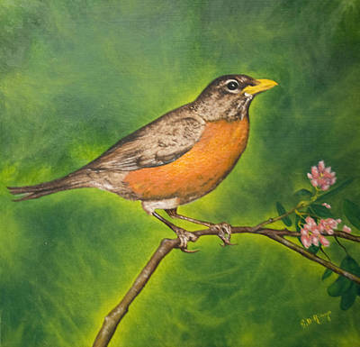 Wall Art - Painting - First Sign Of Spring by Stephen J DiRienzo