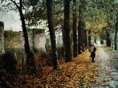 Autumn Landscape Digital Art - First Signs Of Autumn by Gun Legler