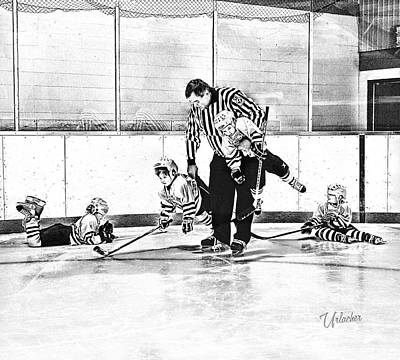 Minor Hockey Digital Art - First Skate  by Elizabeth Urlacher