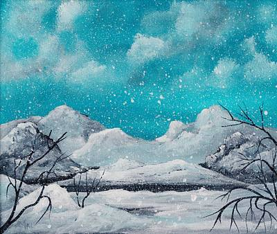 First Snow Drawing - First Snow by Anastasiya Malakhova