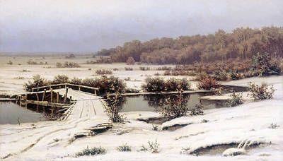 First Snow Painting - First Snow by Celestial Images