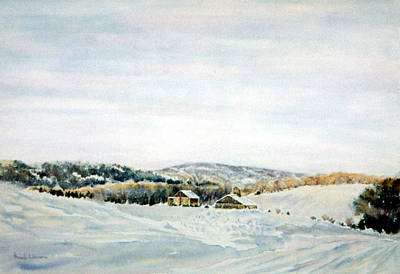 Aloha For Days - First Snow in Bucks County by Pamela Parsons