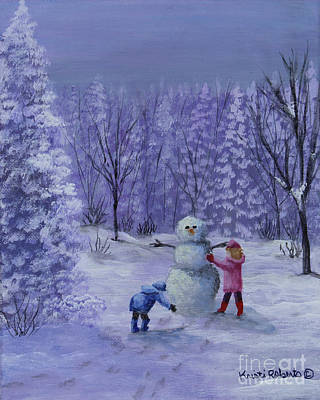 Painting - First Snow by Kristi Roberts