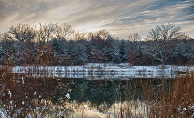 Photograph - First Snow by Linda Shannon Morgan