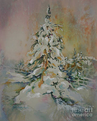First Snow Art Print by Mary Haley-Rocks
