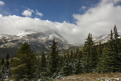 Photograph - First Snow On Mount Lincoln - Colorado by Brian Harig