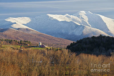 Photograph - First Snow On Mount Mansfield by Alan L Graham