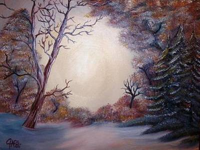 Snow Drifts Mixed Media - First Snow by The GYPSY And DEBBIE