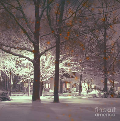 Photograph - First Snow by Vintage Photography