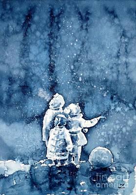 Painting - First Snow by Zaira Dzhaubaeva