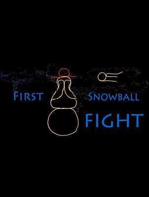 Photograph - First Snowball Fight by Deb Buchanan