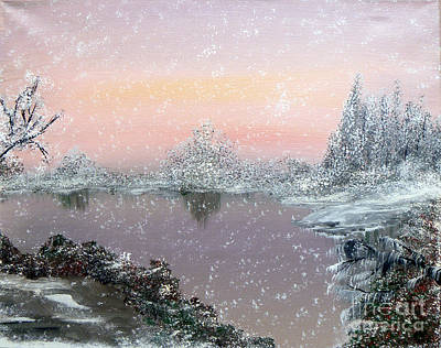 First Snowfall Art Print by Alys Caviness-Gober