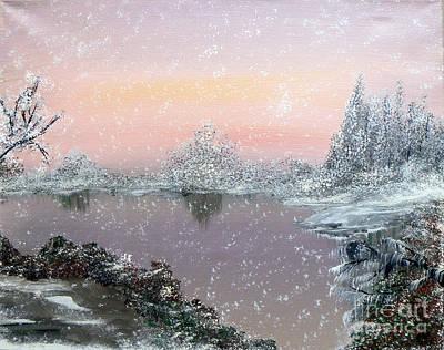 First Snowfall Print by Alys Caviness-Gober