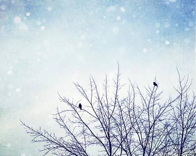 First Snowfall Art Print by Carolyn Cochrane