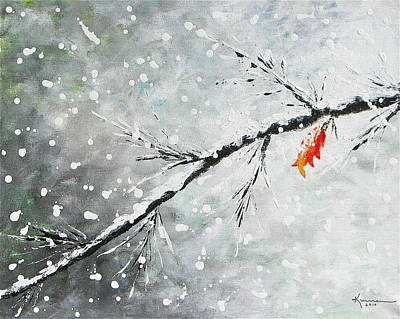 Painting - First Snowfall by Kume Bryant