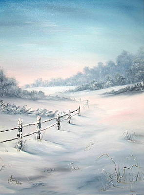 First Snows Art Print