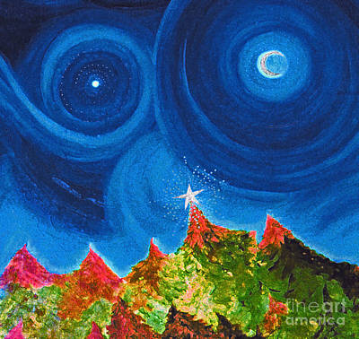 Painting - First Star Christmas Wish By Jrr by First Star Art
