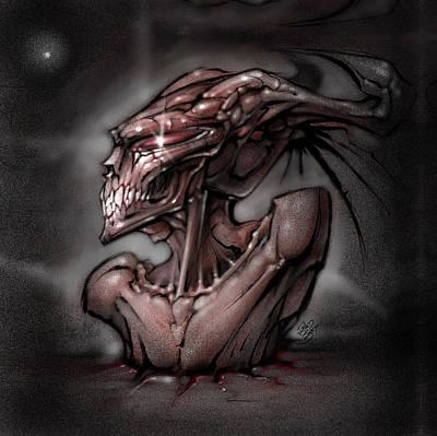 Grim Digital Art - First Star by David Bollt