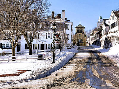 Historic Photograph - First Street In Plymouth Ma by Janice Drew