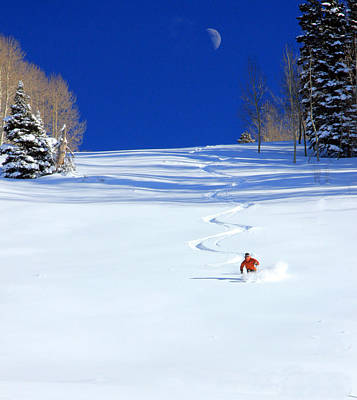 Ski Photograph - First Tracks by Johnny Adolphson