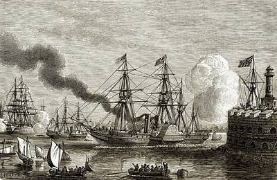 First Transatlantic Steamship Crossing Art Print by Sheila Terry