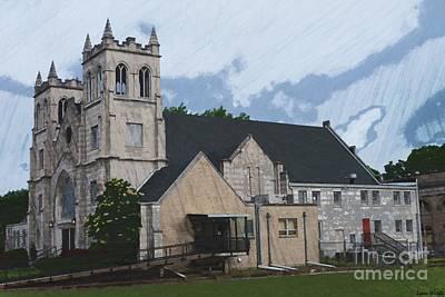 Painting - First United Methodist Church Of Leavenworth Kansas by Liane Wright