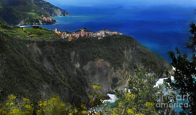 Digital Art - First View Corniglia by Lisa Redfern