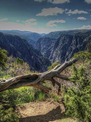 Photograph - First View Of The Black Canyon Of The Gunnison by Roger Passman