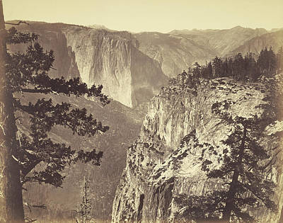 Yosemite National Park Drawing - First View Of The Valley Carleton Watkins by Litz Collection