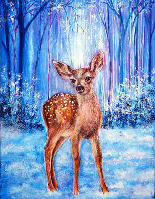 Painting - First Winter by Ann Marie Bone