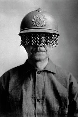 First World War Helmet Eye Screen Art Print by Us Army/science Photo Library