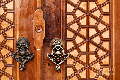 Photograph - Firuz Aga Mosque Door 01 by Rick Piper Photography