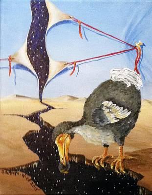 Dodo Bird Painting - Fiscal Cliff by Sandra Scheetz-Wise