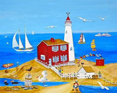 Banff Artist Painting - Fisgard Lighthouse by Virginia Ann Hemingson
