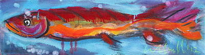 Painting - Fish 1 by Les Leffingwell