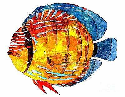 Digital Art - Fish 502-11-13 Marucii by Marek Lutek