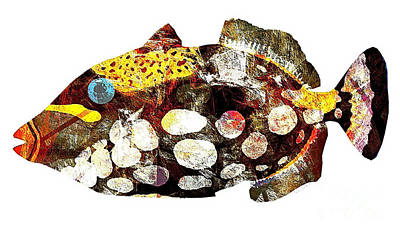 Digital Art - Fish 504-11-13 Marucii by Marek Lutek