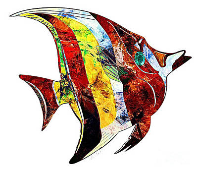 Digital Art - Fish 505-11-13 Marucii by Marek Lutek
